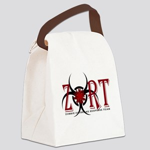 Zombie Outbreak Response Team Logo Canvas Lunch Ba