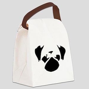 Cutie Pug Canvas Lunch Bag
