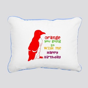 Happy Birthday/ Rectangular Canvas Pillow