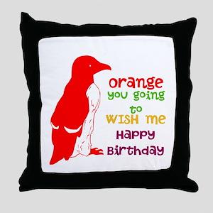 Happy Birthday/ Throw Pillow