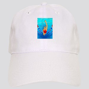 Woman swimming Baseball Cap