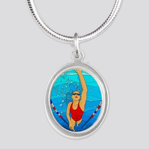 Woman swimming Necklaces