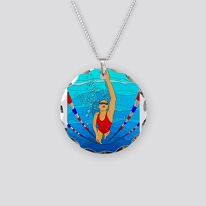 Woman swimming Necklace