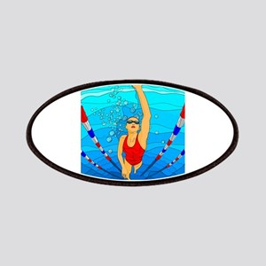 Woman swimming Patches