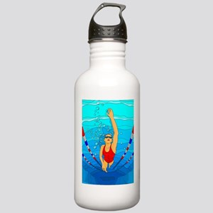 Woman swimming Water Bottle