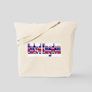 UK Crystal Radio Kit Words Tote Bag