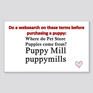 Google this puppy mill Sticker (Rectangle)