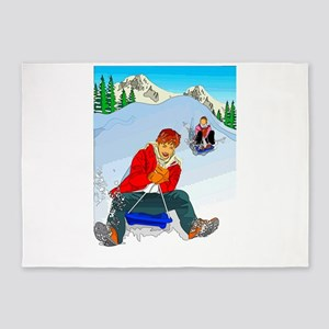 Winter Fun 5'x7'Area Rug