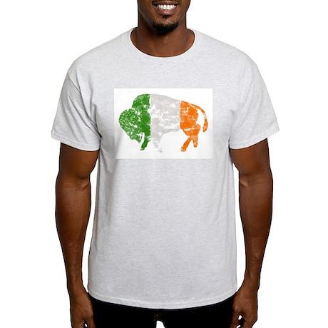 Irish Buffalo Ash Grey T-Shirt