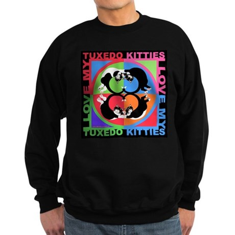 Tuxedo Kitties Cat Graphics Sweatshirt