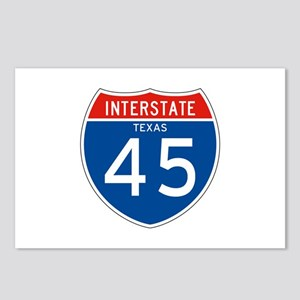 Interstate 45 - TX Postcards (Package of 8)