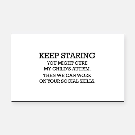 Keep Staring Rectangle Car Magnet