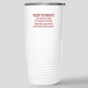 Keep Staring Stainless Steel Travel Mug