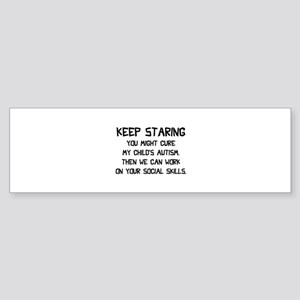 Keep Staring Sticker (Bumper)