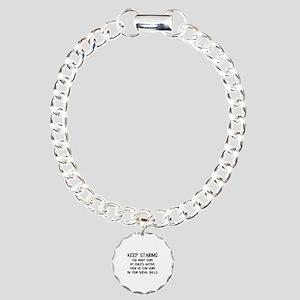 Keep Staring Charm Bracelet, One Charm