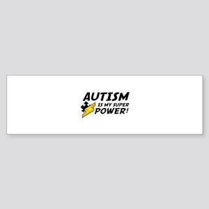 Autism Is My Super Power! Sticker (Bumper)