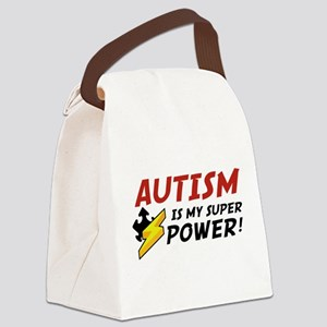 Autism Is My Super Power! Canvas Lunch Bag