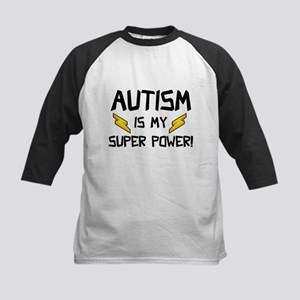 Autism Is My Super Power! Kids Baseball Jersey