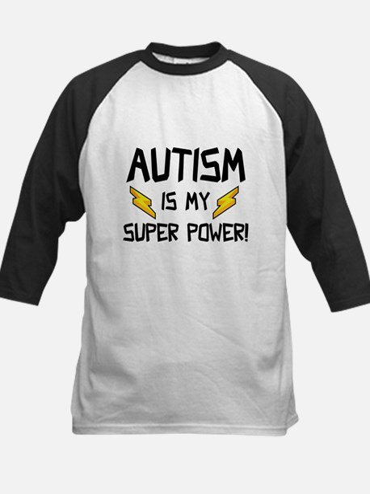 Autism Is My Super Power! Kids Baseball Jersey