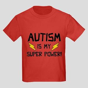 Autism Is My Super Power! Kids Dark T-Shirt