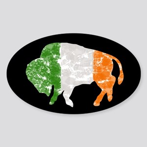 Irish Buffalo Oval Sticker