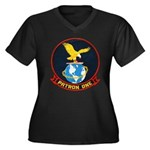 VP-1 Women's Plus Size V-Neck Dark T-Shirt