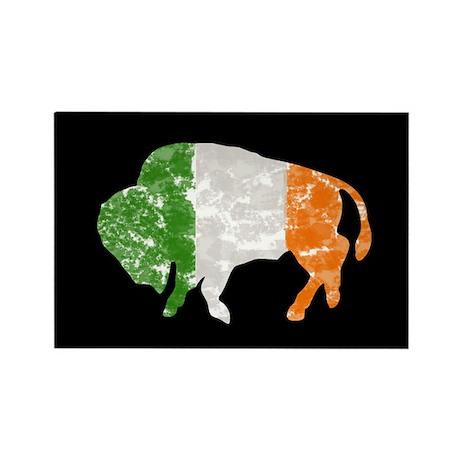 Irish Buffalo Rectangle Magnet (10 pack)
