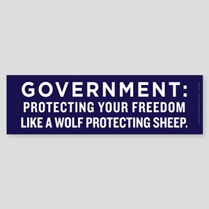 Government Protection Bumper Sticker