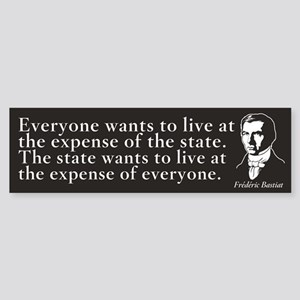 Bastiat State Quote Bumper Sticker