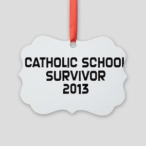 Catholic School Survivor Picture Ornament