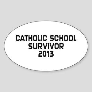 Catholic School Survivor Sticker (Oval)