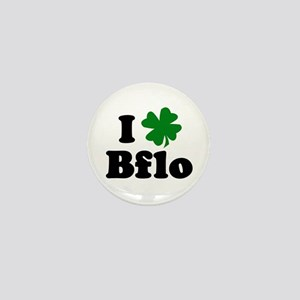 I Shamrock Buffalo Mini Button