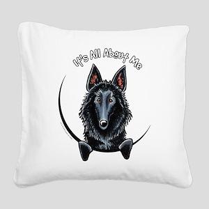 Belgian Sheepdog IAAM Square Canvas Pillow