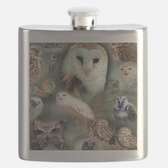 Happy Owls Flask