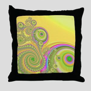 """""""Candy Land"""" Fractal Art Throw Pillow"""