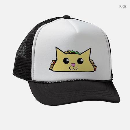 Taco Cat Kids Trucker Hat