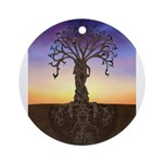 Tree Of Life and Death Ornament (Round)