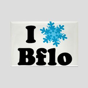 i snowflake buffalo Rectangle Magnet