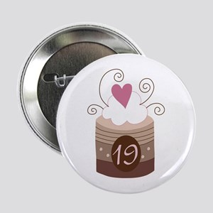 "19th Birthday Cupcake 2.25"" Button"