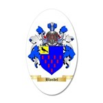 Blondel 35x21 Oval Wall Decal