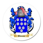 Blomme Round Car Magnet