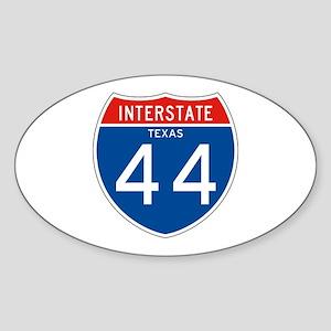 Interstate 44 - TX Oval Sticker