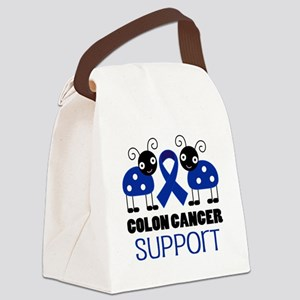 Colon Cancer Support ladybug Canvas Lunch Bag
