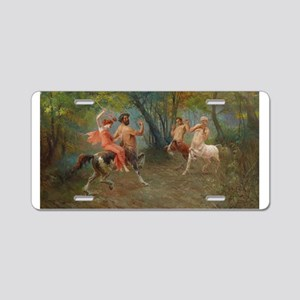 Centaurs in Love and War Aluminum License Plate
