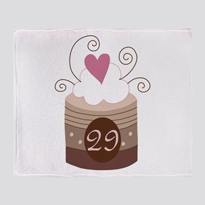 29th Birthday Cupcake Throw Blanket