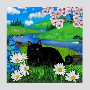 Black cat spring river ceramic tile coater Tile Co