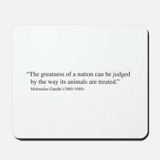 Gandhi quote Mousepad