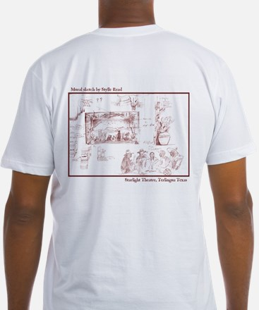 Fitted Mural Sketch T-Shirt
