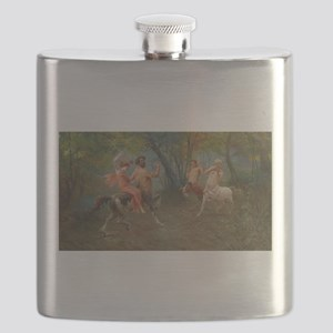 Centaurs in Love and War Flask