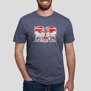 JAPANESE CHIN PROUD PARENT Mens Tri-blend T-Shirt
